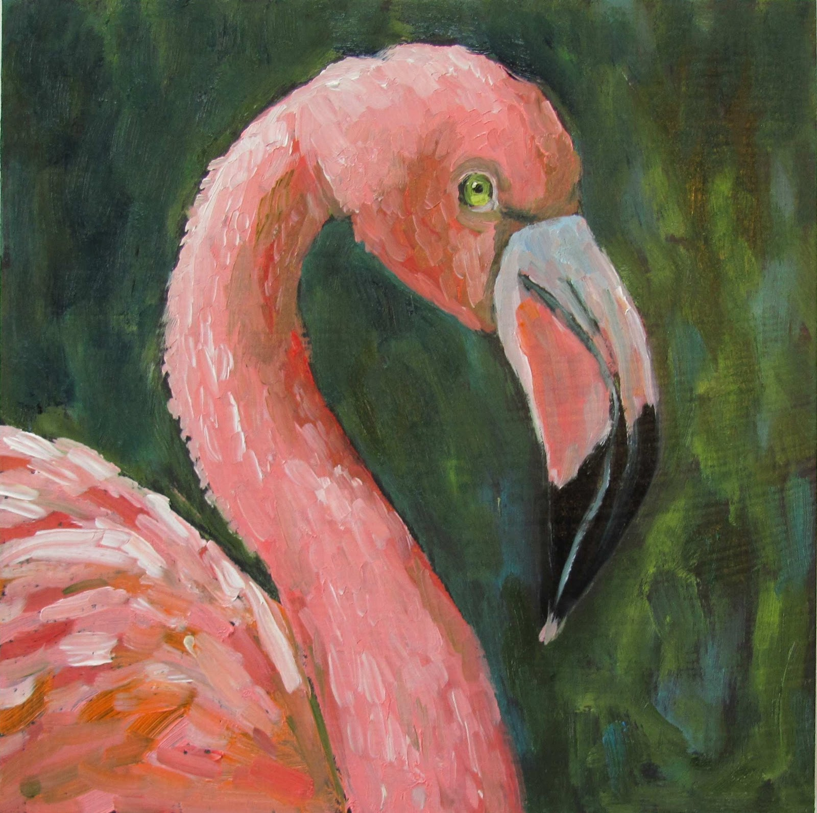 This Flamingo Painting Is Sold However If You Are Interested In Flamingos I Can Paint Others