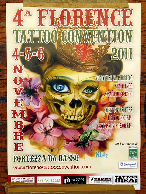 Florence Tattoo Convention 2011, poster, Livorno
