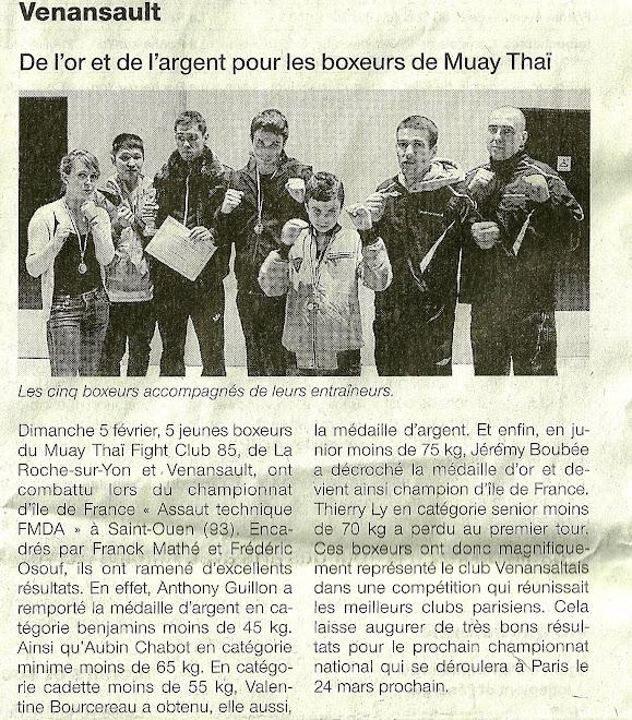 ARTICLE OUEST FRANCE PAGE VENANSAULT DU 13/02/12