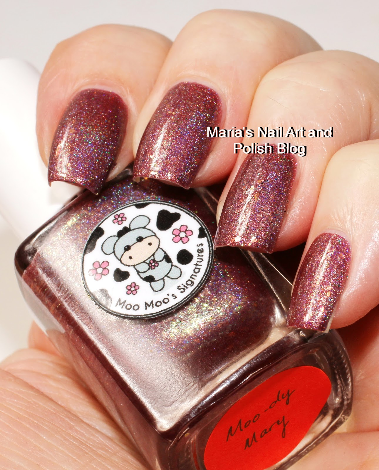 L B K Nail Lacquers Are Unique And Beautiful Giveaway: Marias Nail Art And Polish Blog: Moo Moo Signatures Moo-dy