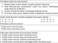 Soal UTS Genap Kelas 6 B. Indonesia Terbaru 2017