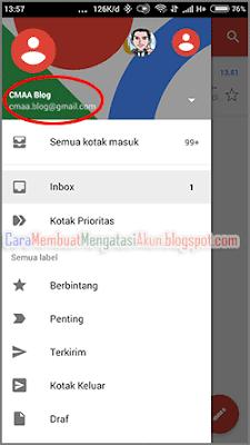 cara membuka email gmail di hp android