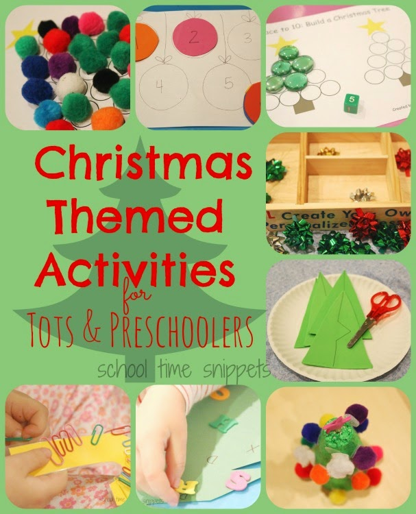 Toddler Christmas Themed Learning Activities