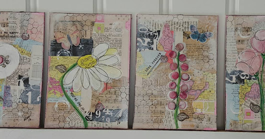 Pink Flower Collages
