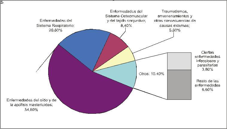 Clasificación de las enfermedades laborales por orden de padecimientos. FOTO: semriesgos.blogspot.com
