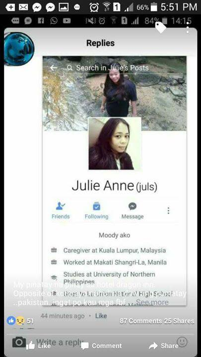 An OFW in Malaysia Was Found Dead In Her Room! Did She Die From Asthma or She Was Killed By Her Pakistani BF?