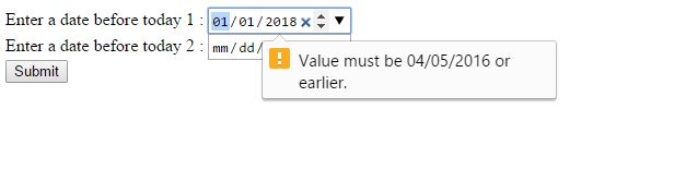Set max date today in input type date using Javascript | OpenSmartIT