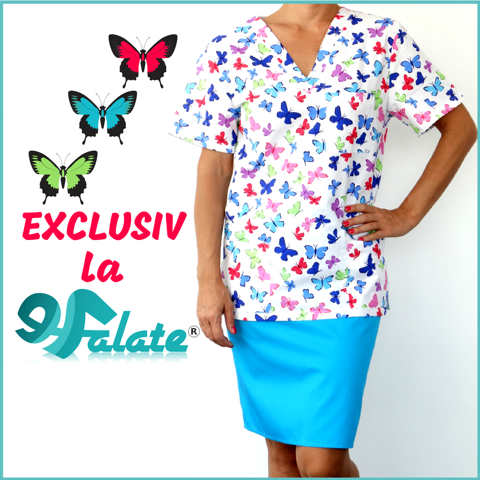 bluze medicale cu imprimeuri