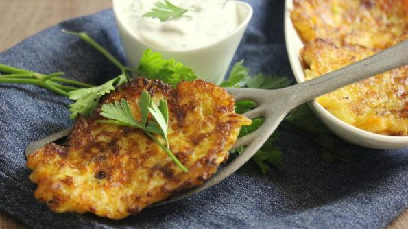 Rosti De Patata Y Zanahoria Con Mozzarella