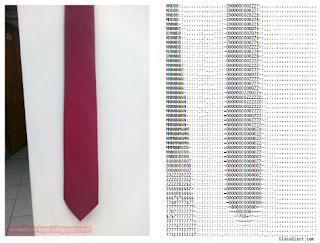 Generator - Mengubah gambar menjadi ASCII text art - romadhon-byar.blogspot.com (B) - Output dari generator ASCII Art