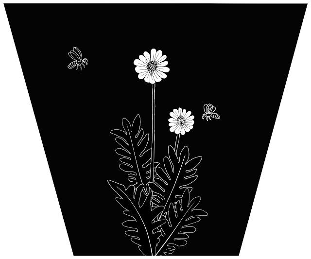 dos abejas, dos flores