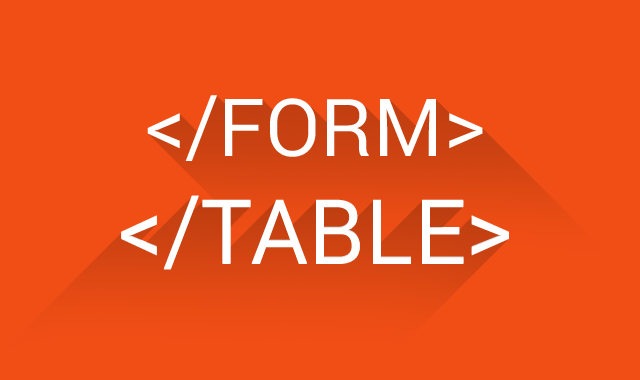 form+table