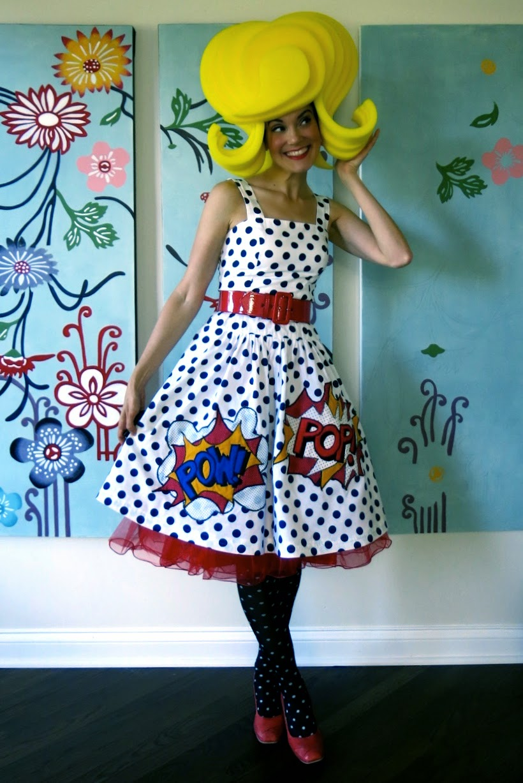 Cassie Stephens: pop art dress