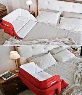 Moisés portátil que se puede sujetar a la cama