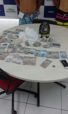 POLICIAIS DO 5° BPM/ COARI, PRENDEM ASSALTANTE E MAIS DOIS INFRATORES ACUSADOS DE TRÁFICO DE DROGAS NO MUNICÍPIO