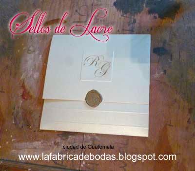 venta comprar invitacion participacion tarjeta de boda cerrada con sello cera dorada guatemala Targeta letras RG