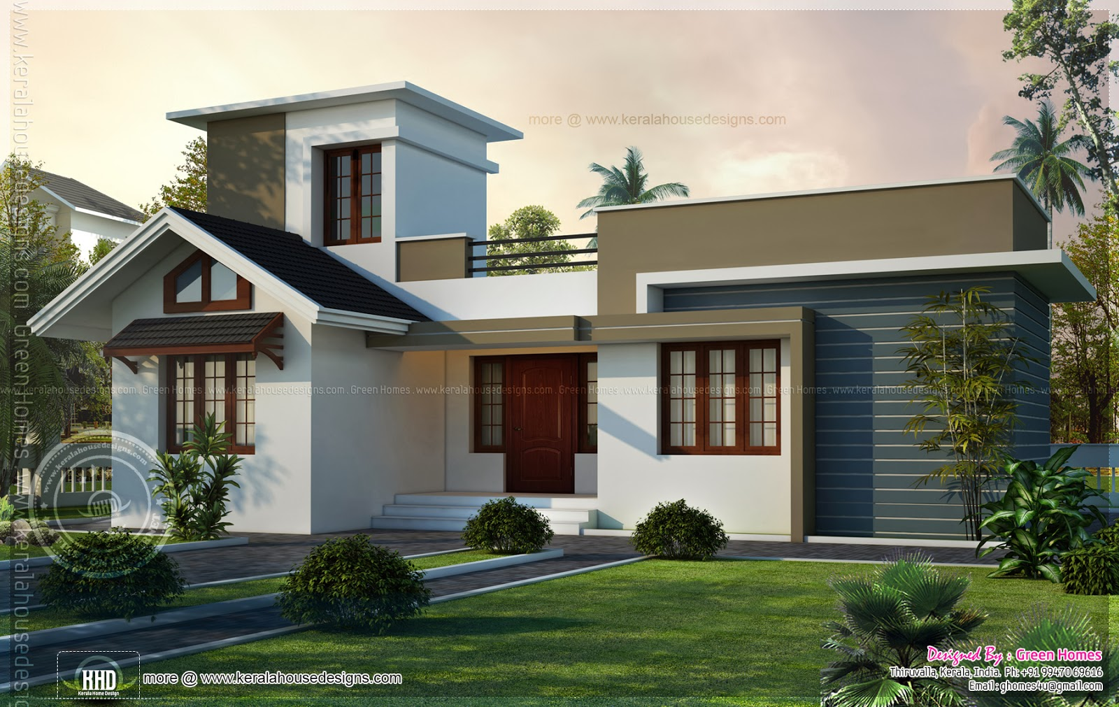 house with stair room - 17+ Small House Plans In Kerala With Photos  Images