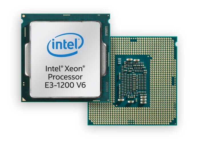 Intel E3-1200 v6: a family of low-end Xeon processors with Kaby Lake architecture