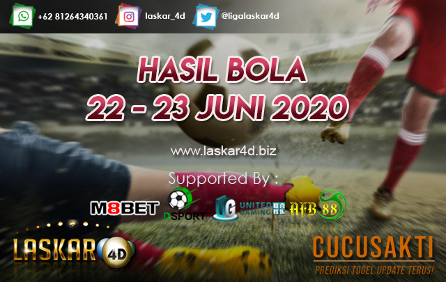 HASIL BOLA JITU TANGGAL 22 – 23 JUNI 2020