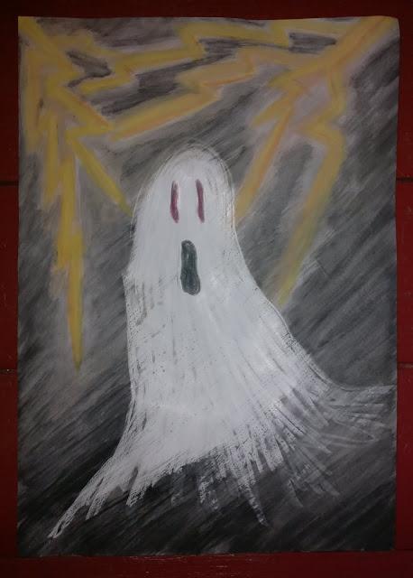 halloween askarteluohje kummitustaulu