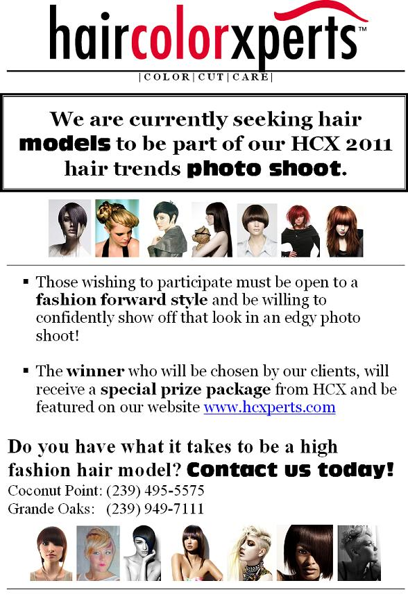 Living with Xperts!: High Fashion Hair Models Wanted!!!!!