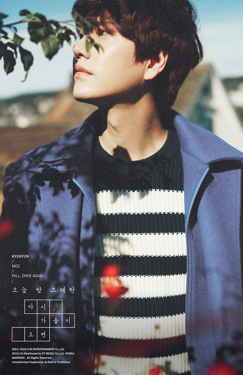 super junior s kyuhyun releases more teaser images for fall once