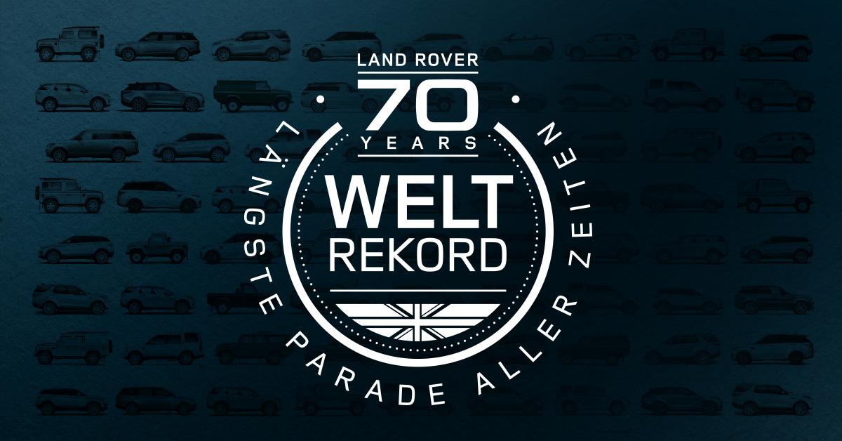 BRECHE MIT LAND ROVER EINEN WELTREKORD | DIE 70 JAHRE LAND ROVER JUBILÄUMSFEIER