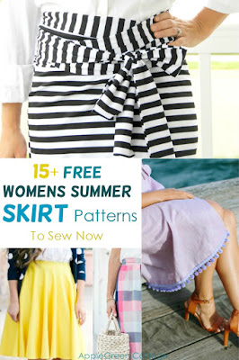 Free skirt patterns with detailed instructions to sew your own summer skirt. A great sewing project for this summer!