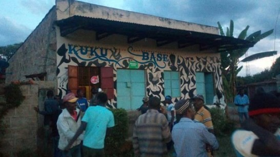 Angry women storm a bar in Kenya to kick out beautiful waitress they accused of snatching their husbands