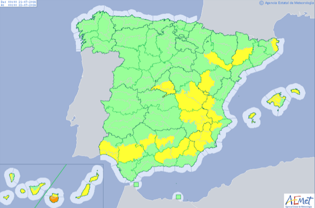 Solo queda Gran Canaria en aviso naranja por altas temperaturas 20 julio