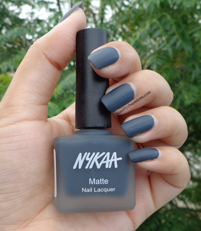 Nykaa Matte Nail Paints (Lavender Panna Cotta, Squid Ink Mousse ...