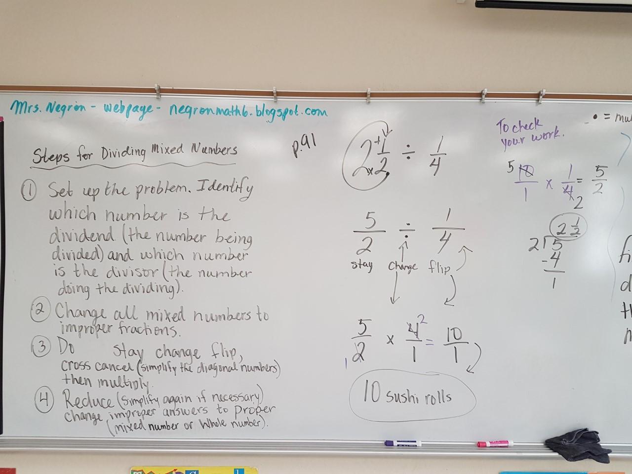 Mrs Negron 6th Grade Math Class Lesson 4 3
