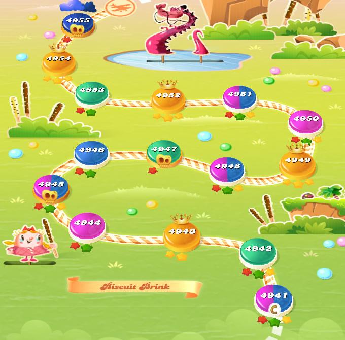 Candy Crush Saga level 4956-4970