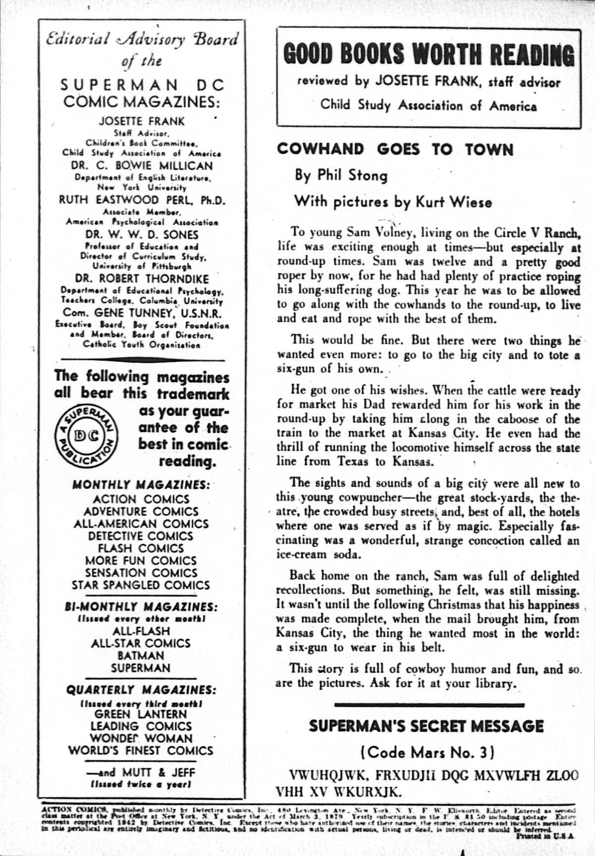 Action Comics (1938) 52 Page 1