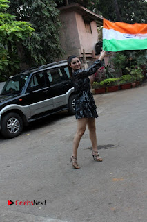 Bollywood Actress Model Urvashi Rautela Stills in Black Dress at Republic Day Celebrations  0001.jpg