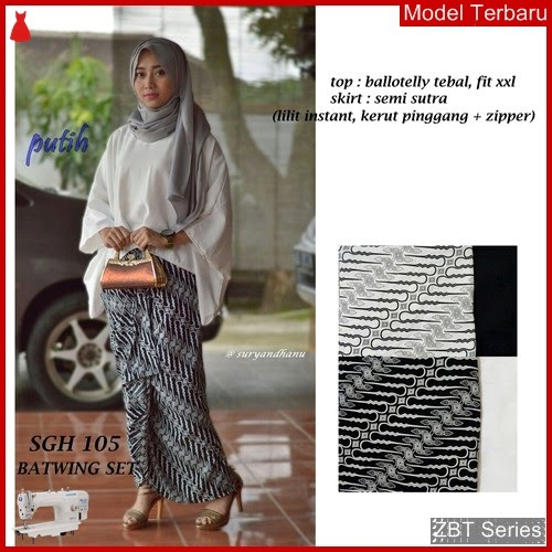ZBT12009 Kebaya Batik Couple Wanita Sgh 105 BMGShop