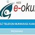 e-OKUL'dan Veli Telefon Numaralarını Alma Programı