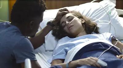 Gabriela (Giovanna Coimbra) recebe a visita de Ramon (David Junior)