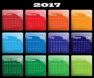 2017カレンダー無料テンプレート203