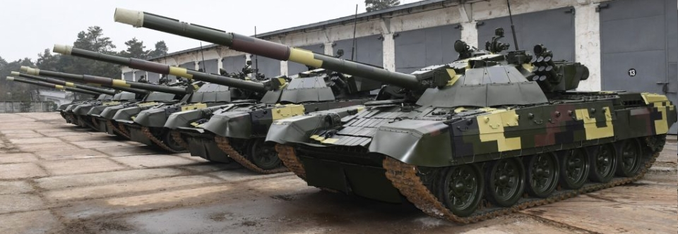 The Ukrainian Army received a battalion of upgraded T-72 tanks