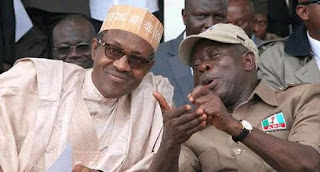 Adams oshiomhole and buhari apc chairman