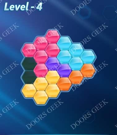 Block! Hexa Puzzle [6 Mania] Level 4 Solution, Cheats, Walkthrough for android, iphone, ipad, ipod