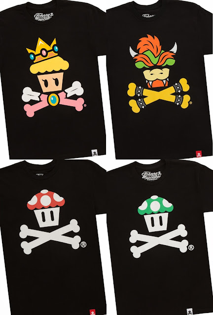 Super Mario Bros. Crossbones T-Shirt Series 2 by Johnny Cupcakes