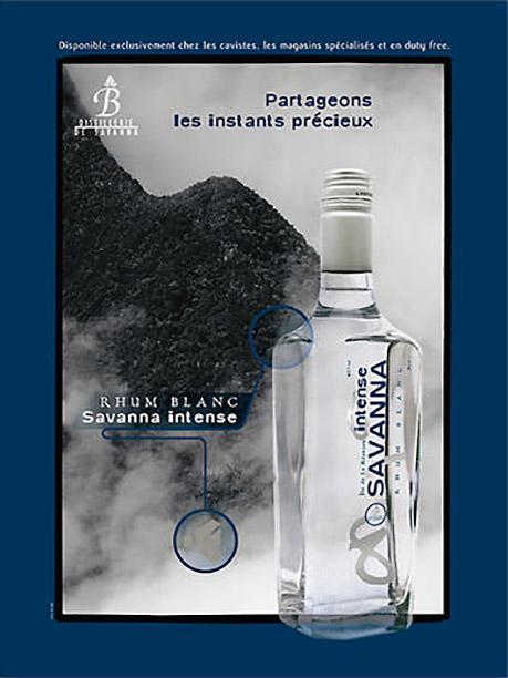 Publicité rhum blanc Savanna Intense