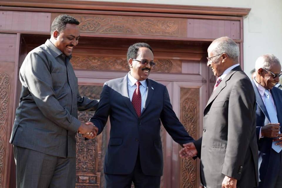 <Eritrea, Ethiopia foreign ministers in Somalia for high-level talks