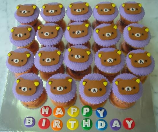 Yochanas Cake Delight Rilakkuma Cupcakes