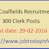 Eastern Coalfields Recruitment 2016 - Apply for 300 Clerk Posts