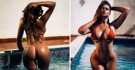 Modelo rusa es comparada con Kim Kardashian por sus curvas