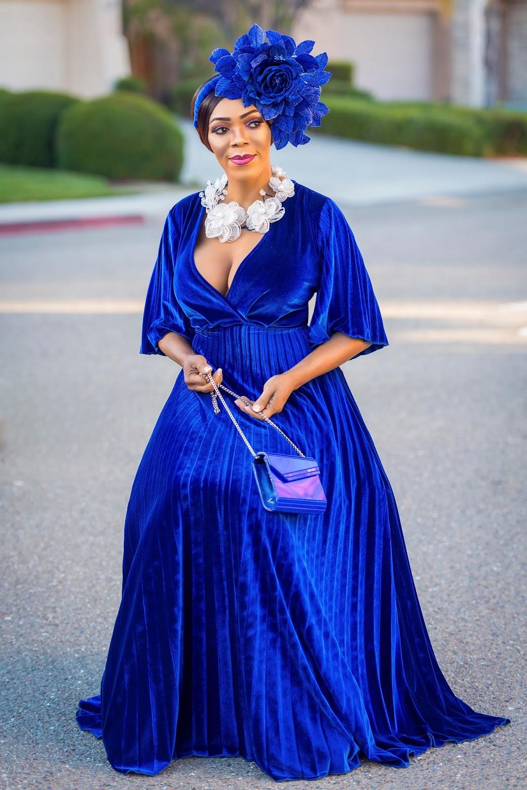 printed velvet maxi dress