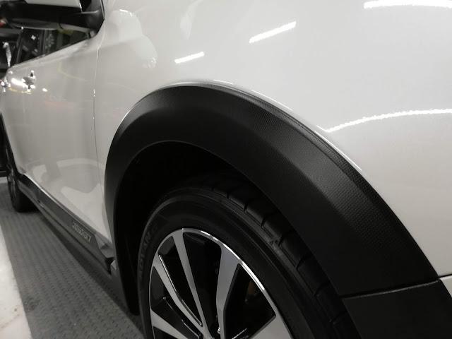 スバル/エクシーガクロスオーバー7 樹脂硬化型ボディコーティング【Ω/OMEGA】+樹脂・クラッディングパーツ劣化防止保護コーティングクラッディング